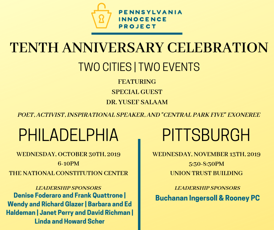 November 13th, 2019: <br/> 10th Anniversary Celebration<br/> in Pittsburgh